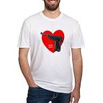 Love Gun Pistol  Fitted T-Shirt