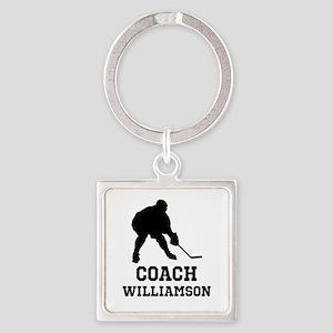Personalized Hockey Coach Keychains