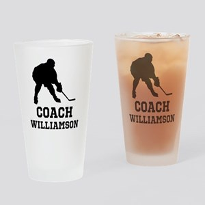 Personalized Hockey Coach Drinking Glass