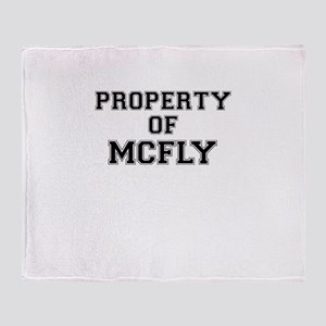 Property of MCFLY Throw Blanket