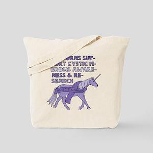 Unicorns Support Cystic Fibrosis Awarenes Tote Bag