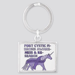 Unicorns Support Cystic Fibrosis Awarene Keychains
