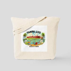 Tampa Life Vintage Cigar Ad Tote Bag