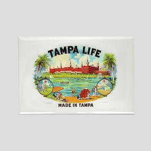 Tampa Life Vintage Cigar Ad Rectangle Magnet