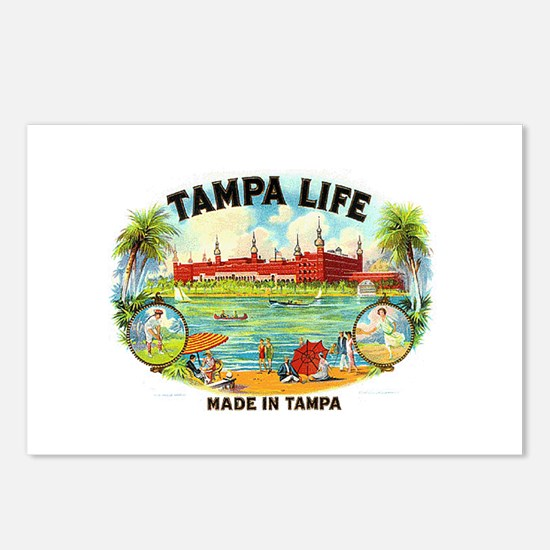 Tampa Life Vintage Cigar Ad Postcards (Package of