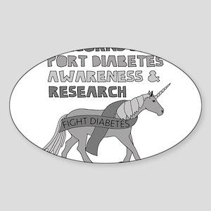 Unicorns Support Diabetes Awareness Sticker