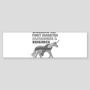 Unicorns Support Diabetes Awareness Bumper Sticker