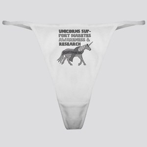 Unicorns Support Diabetes Awareness Classic Thong