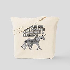 Unicorns Support Diabetes Awareness Tote Bag