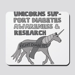 Unicorns Support Diabetes Awareness Mousepad