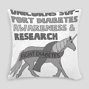 Unicorns Support Diabetes Awarenes Everyday Pillow