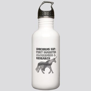 Unicorns Support Diabe Stainless Water Bottle 1.0L