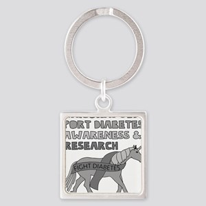 Unicorns Support Diabetes Awareness Keychains