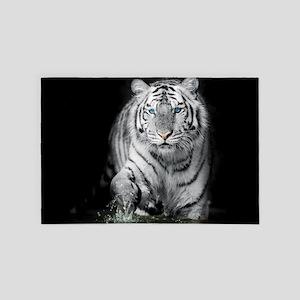 White Tiger 4' X 6' Rug