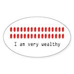 Wealthy Link Oval Sticker