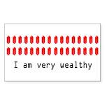 Wealthy Link Rectangle Sticker