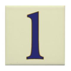 Spanish Blue Letter 1 Tile