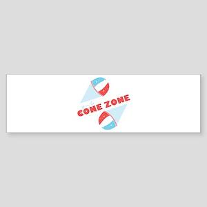 Cone Zone Bumper Sticker