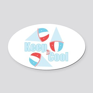 Keep Cool Oval Car Magnet