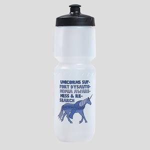 Unicorns Support Dysautonomia Awaren Sports Bottle