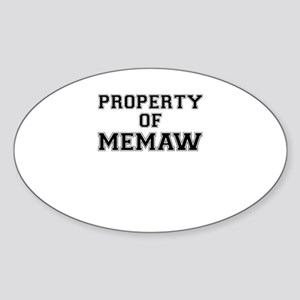 Property of MEMAW Sticker