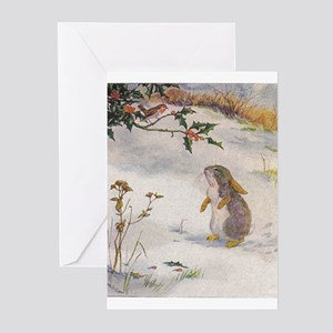 Vintage greeting cards cafepress 1927 christmas bunny greeting cards pk of 20 m4hsunfo