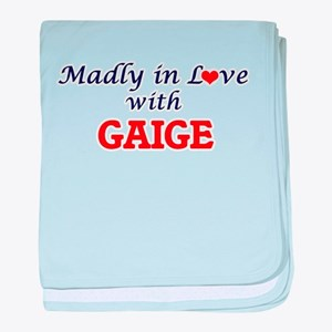 Madly in love with Gaige baby blanket
