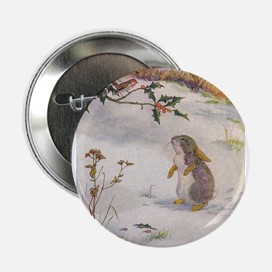 """1927 Christmas Bunny 2.25"""" Button (100 pack)"""