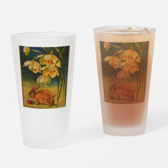 Funny Easter bunny Drinking Glass