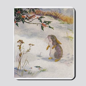 1927 Christmas Bunny Mousepad