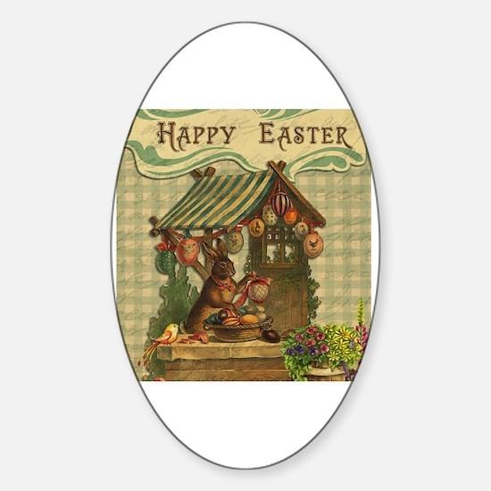 Cute Easter Sticker (Oval)
