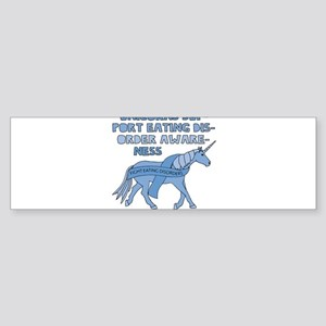 Unicorns Support Eating Disorder Aw Bumper Sticker