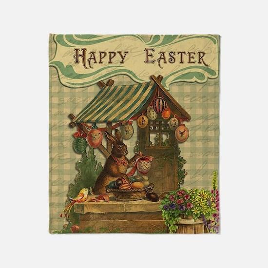 Unique Easter bunny Throw Blanket