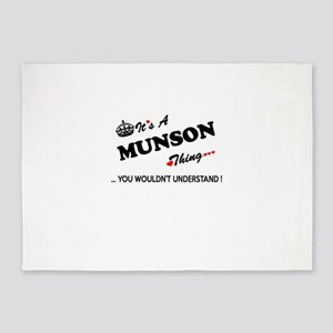 MUNSON thing, you wouldn't understa 5'x7'Area Rug