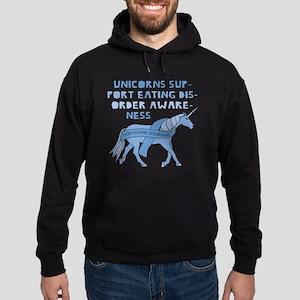 Unicorns Support Eating Disorder Awa Hoodie (dark)