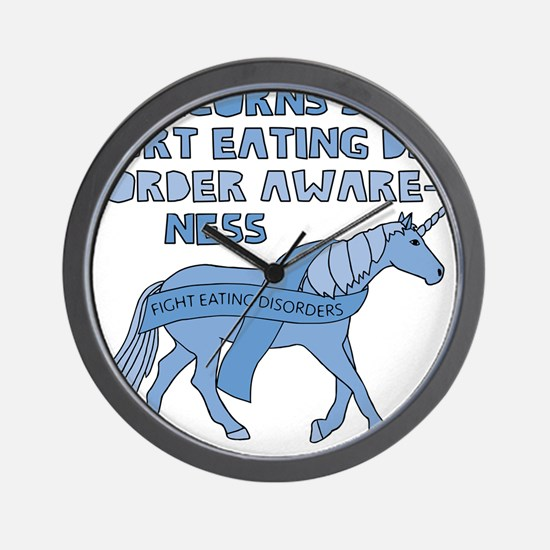 Unicorns Support Eating Disorder Awaren Wall Clock