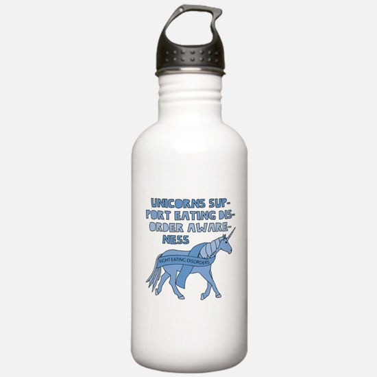 Unicorns Support Eatin Water Bottle