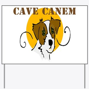 Cave Canem (Jack Russell) Yard Sign