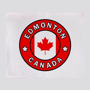 Edmonton Canada Throw Blanket