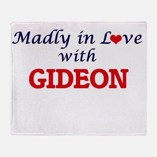 Madly in love with Gideon Throw Blanket
