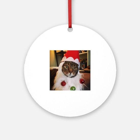 Cute Tabby cat Round Ornament