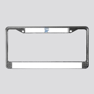Unicorns Support Esophageal Ca License Plate Frame