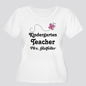Personalized Kindergarten Teacher Plus Size T-Shir