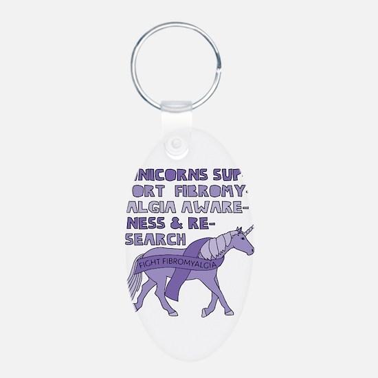 Unicorns Support Fibromyalgia Awareness Keychains