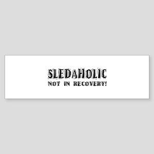 Sledaholic Bumper Sticker