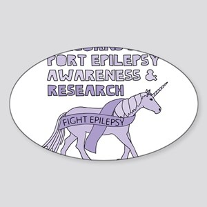 Unicorns Support Epilepsy Awareness Sticker