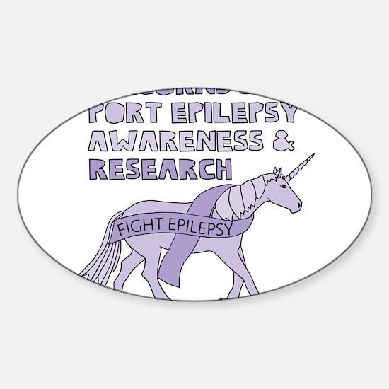 Unicorns Support Epilepsy Awareness Decal
