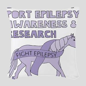 Unicorns Support Epilepsy Awar Woven Throw Pillow