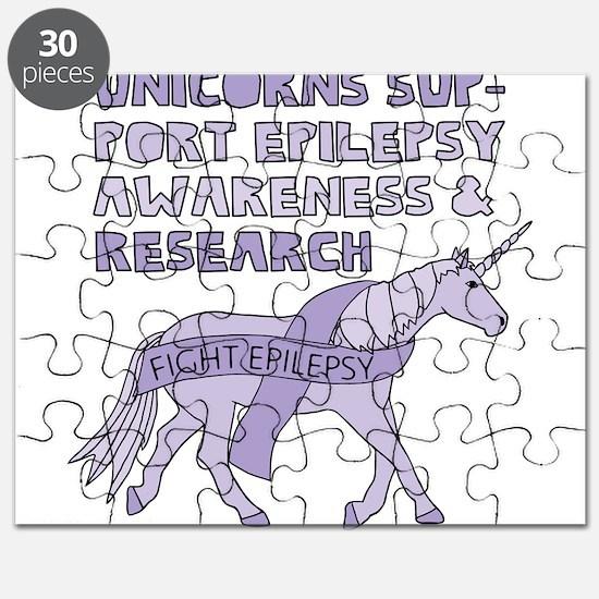 Unicorns Support Epilepsy Awareness Puzzle