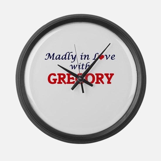 Madly in love with Gregory Large Wall Clock